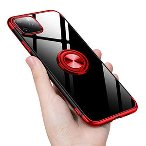 2020 Transparent Colorful Magnetic Ring Holder Phone Case For iPhone