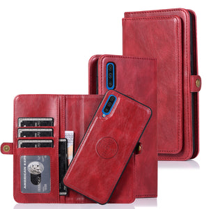 Multifunctional Split Magnetic Wallet Phone Case For Samsung A70