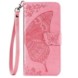 New Luxury Embossed Butterfly Leather Wallet Flip Case for IPHONE XR