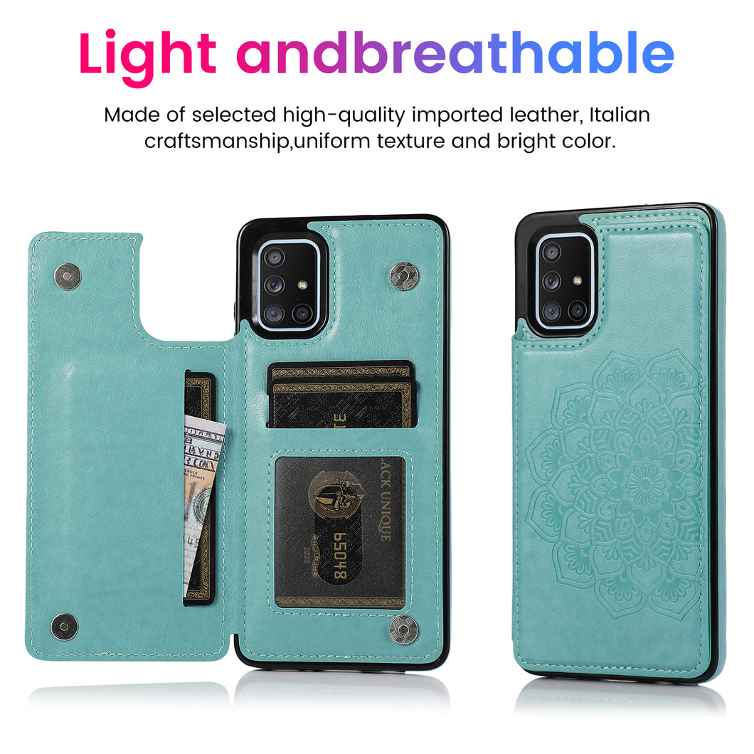 2020 New Style Luxury Wallet Cover For Samsung A71 4G