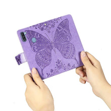 Load image into Gallery viewer, 2021 Luxury Embossed Butterfly Leather Wallet Flip Case For Samsung A Series