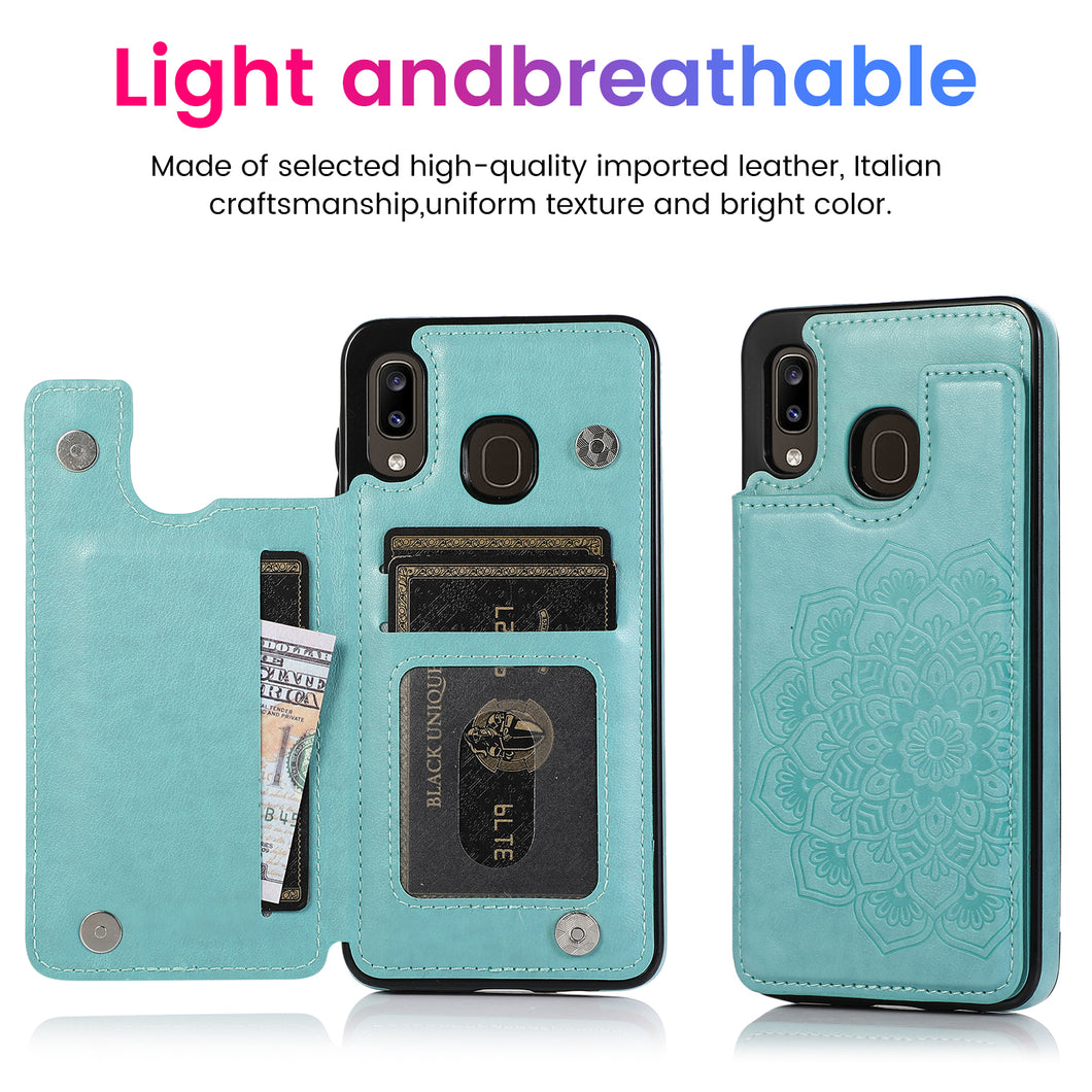 2020 New Style Luxury Wallet Cover For Samsung A20/A30