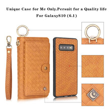 Load image into Gallery viewer, Woven Pattern Wallet Removeble Phone Case For Samsung