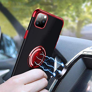 Transparent Colorful Magnetic Ring Holder Phone Case For iPhone