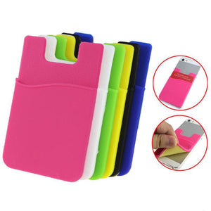 Silicone Card Pouch Stick on Phone Compatible with Almost Every Phone (3 Pieces)