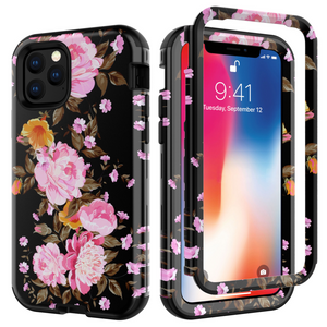 Stylish Printed Flower&Marble Mobile Phone Case For IPhone