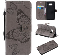 Load image into Gallery viewer, 2021 Upgraded 3D Embossed Butterfly Wallet Phone Case For Samsung S8 Plus