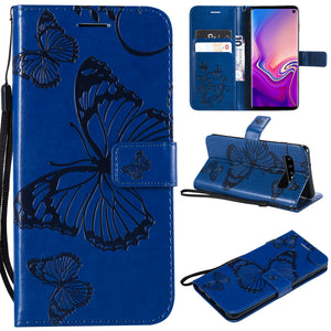 3D Embossed Butterfly Wallet Phone Case For Samsung S10 4G