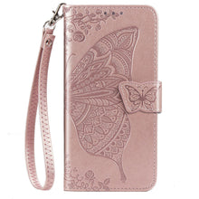 Load image into Gallery viewer, New Luxury Embossed Butterfly Leather Wallet Flip Case for IPHONE XS Max