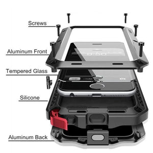 2020 NEW Luxury Doom Armor Waterproof Metal Aluminum Phone Case For Samsung S20 Series