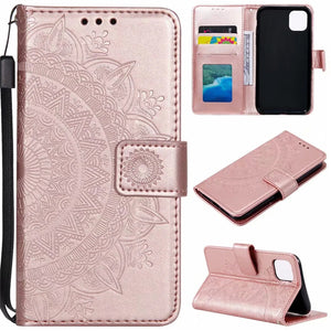2020 NEW Sunflower Embossed Wallet Phone Case For iPhone