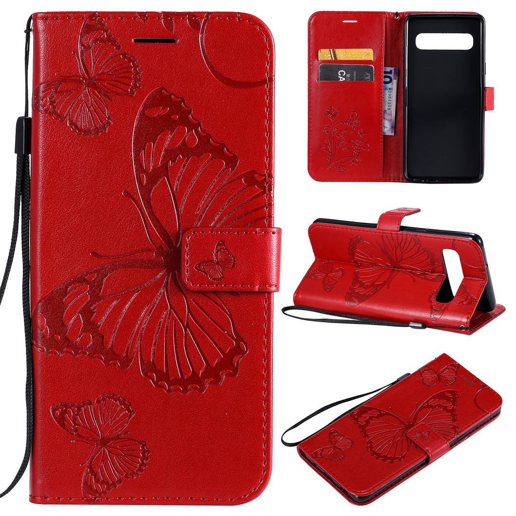 2021 Upgraded 3D Embossed Butterfly Wallet Phone Case For Samsung S10 5G