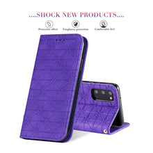 Load image into Gallery viewer, Lucky Flower Embossed Magnetic Flip Wallet Phone Case For Samsung