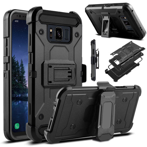 Armor Shockproof Hard Stand Holder Full Body Belt Clip Case For Samsung