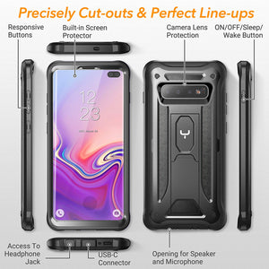 Full-Body Rugged Cover WITH Built-in Screen Protector For Samsung
