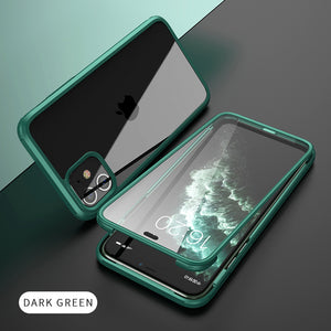 Luxury 360° Protection Case With Built-in Screen Protector For iPhone