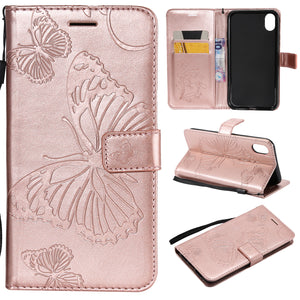 2021 Upgraded 3D Embossed Butterfly Wallet Phone Case For iPhone XR
