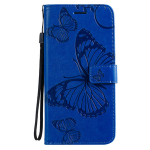 3D Embossed Butterfly Wallet Phone Case For Samsung S20 Plus