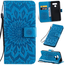 Load image into Gallery viewer, Embossed Sunflower Wallet Phone Case For Samsung A51/A71