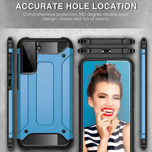 Tough Armoured ShockProof Heavy Duty Protective Case For Samsung S21 Plus 5G