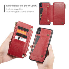 Load image into Gallery viewer, Business Zipper Wallet Detachable 2 in 1 Case For iPhone