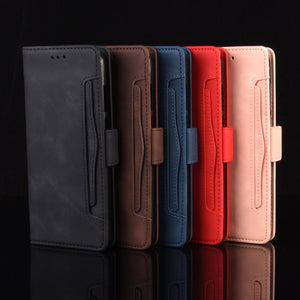Luxury Multi-Card Slots Wallet Flip Cover For Samsung A Series
