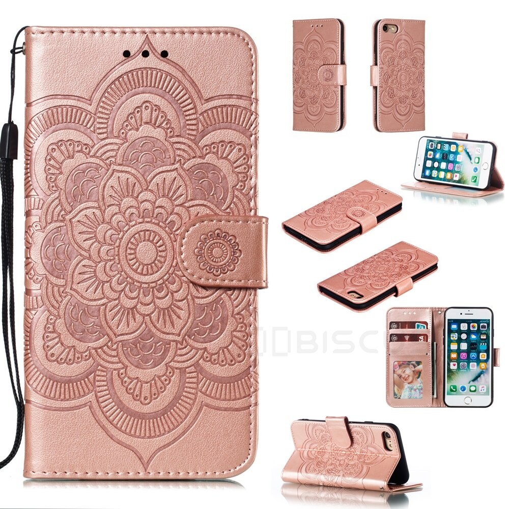 Luxurious Multifunctional Flip Card Wallet Phone Case for iPhone