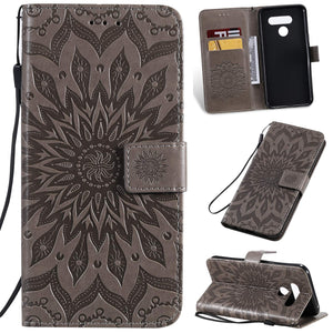 Embossed Sunflower Wallet Phone Cover For SAMSUNG