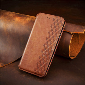 2021 Upgraded Magnetic Leather Flip Wallet Phone Case For Samsung A Series