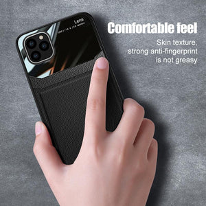 2020 Luxury Leather Mirror Case For iPhone
