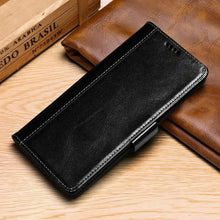 Load image into Gallery viewer, Luxury Oil Wax Pattern Leather Wallet Phone Case for iPhone