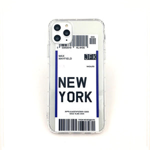 Trendy Boarding Pass Phone Case For iPhone