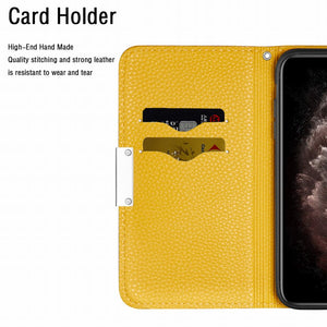 2020 Lychee Pattern Leather Wallet Phone Case for iPhone 11 Pro