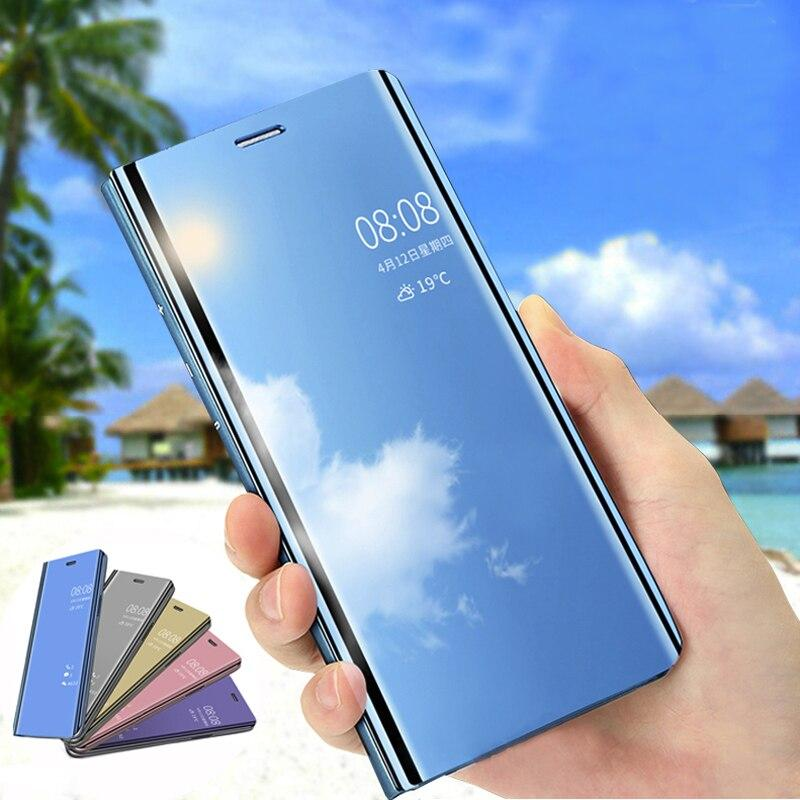 Luxury Mirror Flip Slim Clear View Smart Cover Case For Samsung Galaxy Series