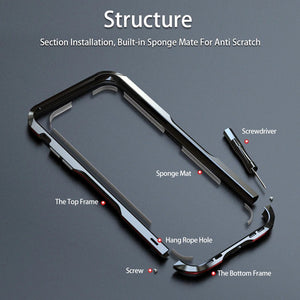 Luxury Shockproof Aluminum Metal Bumper Frame Case For iPhone