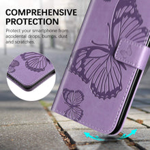 Load image into Gallery viewer, 3D Embossed Butterfly Wallet Phone Case For Samsung A71