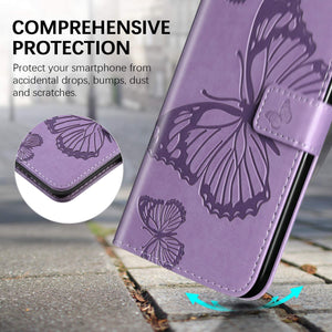3D Embossed Butterfly Wallet Phone Case For Samsung Note 9
