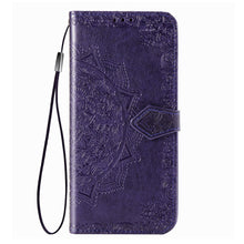Load image into Gallery viewer, 2021 Luxury Embossed Mandala Leather Wallet Flip Case for Samsung A50