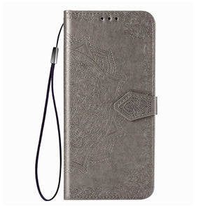 2021 Luxury Embossed Mandala Leather Wallet Flip Case for iPhone 6/6S