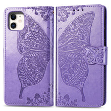 Load image into Gallery viewer, 2021 Luxury Embossed Butterfly Leather Wallet Flip Case For iPhone 12 Series