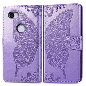 2021 Luxury Embossed Butterfly Leather Wallet Flip Case For Google Pixel