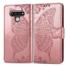 Load image into Gallery viewer, 2020 Luxury Embossed Butterfly Leather Wallet Flip Case for LG Stylo 6
