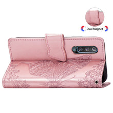 Load image into Gallery viewer, 2020 Luxury Embossed Butterfly Leather Wallet Flip Case For Samsung A50