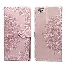 Load image into Gallery viewer, 2021 Luxury Embossed Mandala Leather Wallet Flip Case for iPhone 6/6S