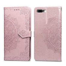 Load image into Gallery viewer, 2020 Luxury Embossed Mandala Leather Wallet Flip Case for iPhone 8 Plus