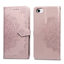 Load image into Gallery viewer, 2021 Luxury Embossed Mandala Leather Wallet Flip Case for iPhone SE 2020