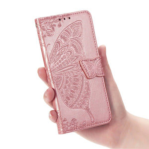 2020 Luxury Embossed Butterfly Leather Wallet Flip Case for LG Stylo 6