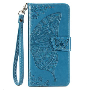 2021 Luxury Embossed Butterfly Leather Wallet Flip Case For Huawei Huawei Psmart 2019