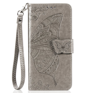 2020 Luxury Embossed Butterfly Leather Wallet Flip Case For Huawei P20 Lite