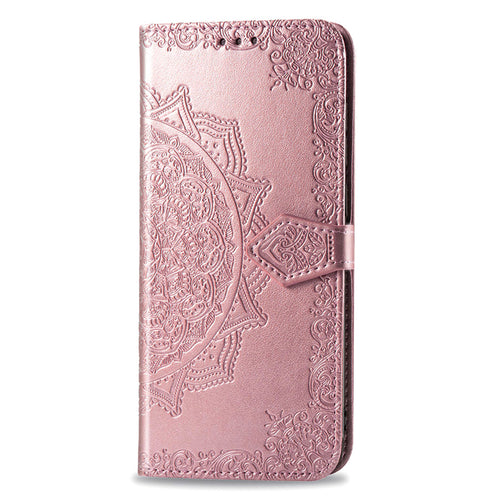 2020 Luxury Embossed Mandala Leather Wallet Flip Case for HUAWEI P20 Lite